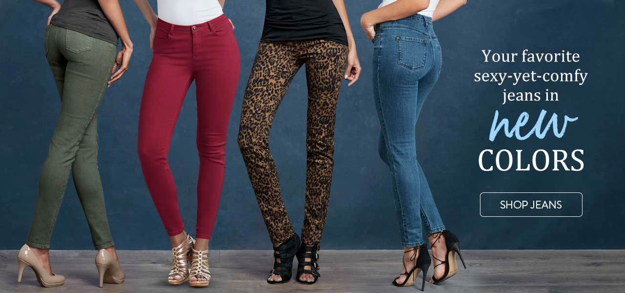 Your favorite sexy-yet-comfy jeans are available in new colors for fall. Shop now.