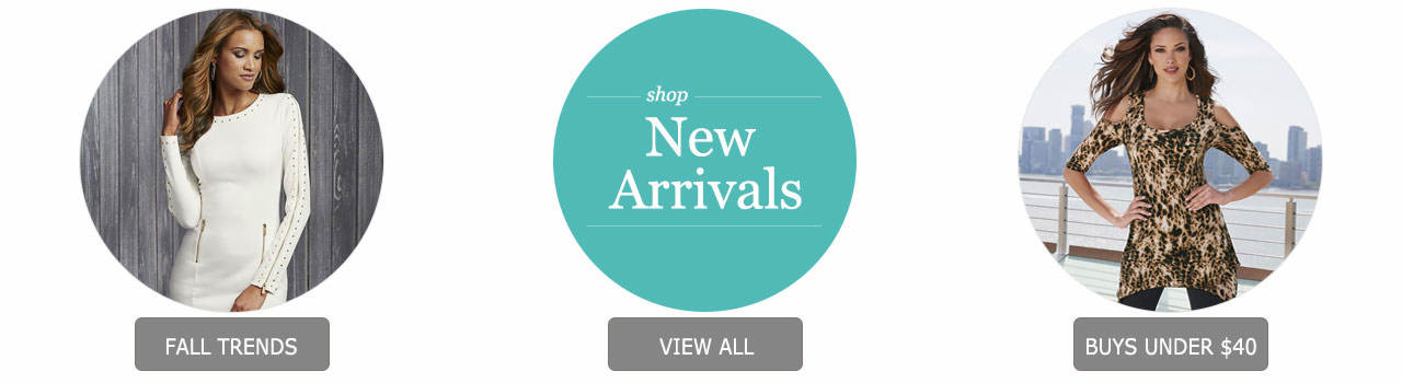 So many ways to shop! Check out our updated trends page for fall, tons of new arrivals and hot buys under $40!