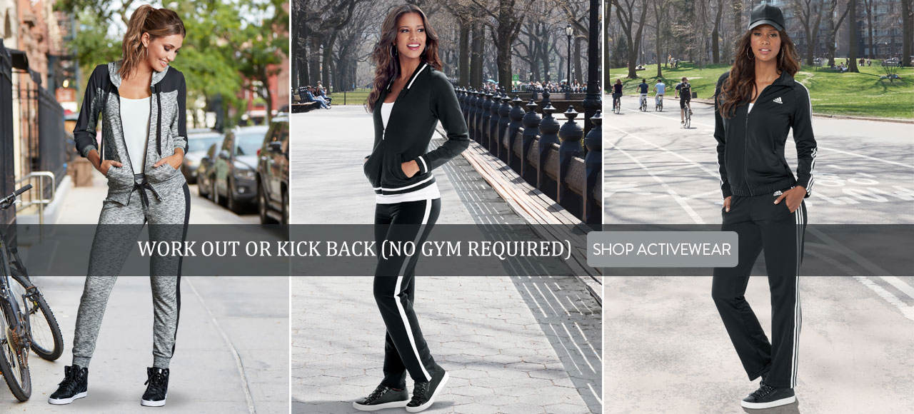 Work out or kick back (no gym required). Shop Activewear now.