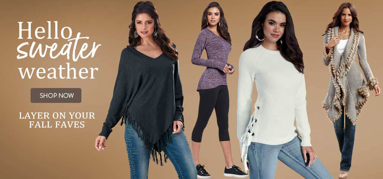 Hello sweater weather. Layer on your favorites. Shop now.