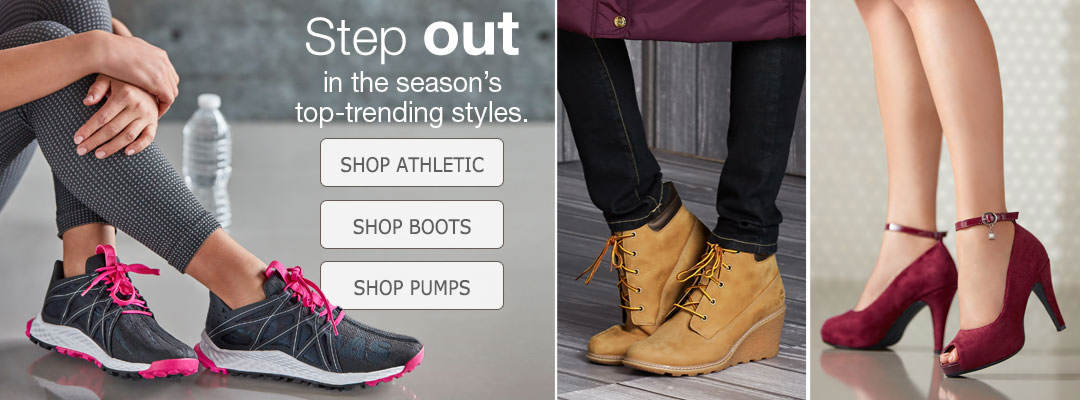 Step out in the season's top-trending styles. Shop boots and more.