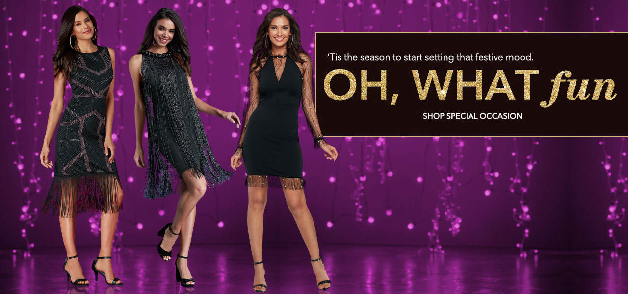 Tis the season to start setting that festive mood. Shop Special Occasion Now.