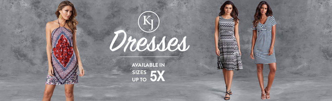 K. Jordan has dresses available in sizes up to 5X. Shop the selection.