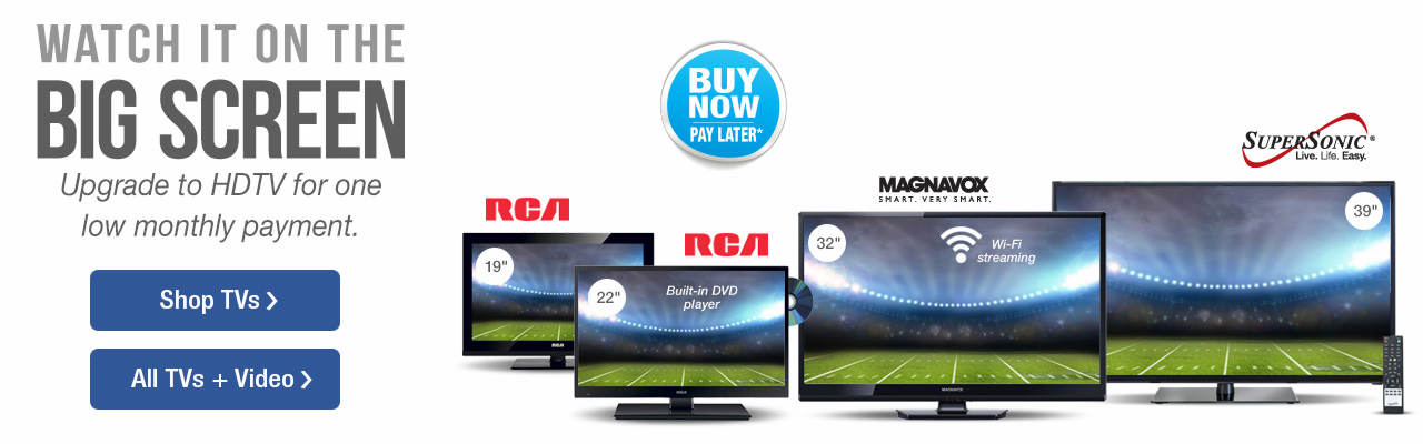 Upgrade to HDTV for one low monthly payment. Shop TVs and Video on Stoneberry.com.