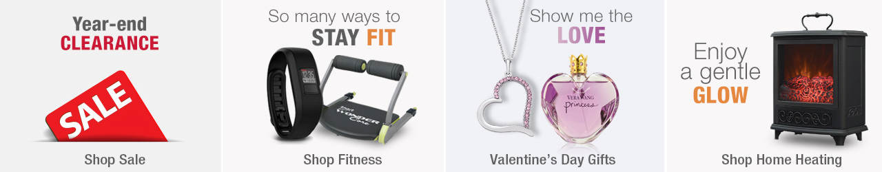 Save at the big After Christmas sale. Find many ways to stay fit by shopping our fitness selection. Show the love on February 14 by shopping our selection of Valentine's Day gifts and enjoy a gentle glow when you shop home heating