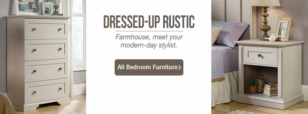 Dressed-up rustic bedroom furniture - farmhouse, meet your modern-day stylist. Shop all bedroom furniture now.