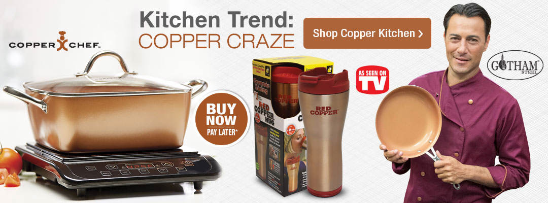 The new trend in kitchen items is the Copper Craze. Shop now.