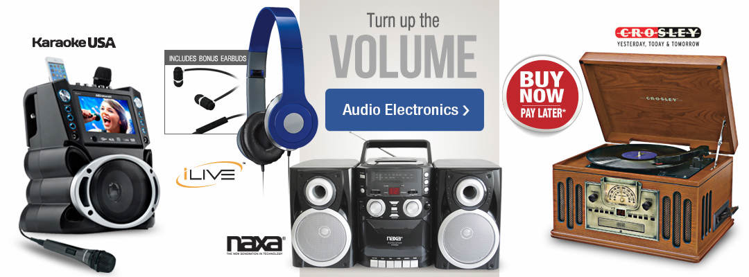 Stoneberry is turning up the volume! Shop audio electronics now.