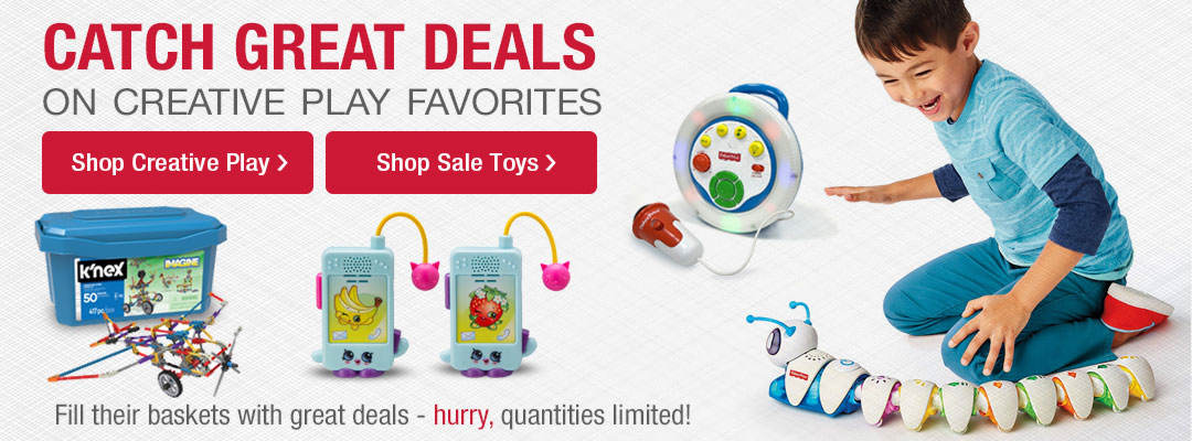 Catch great deals on creative play favorites.