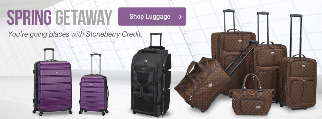 Enjoy your spring getaways with luggage from Stoneberry Credit. Shop now.