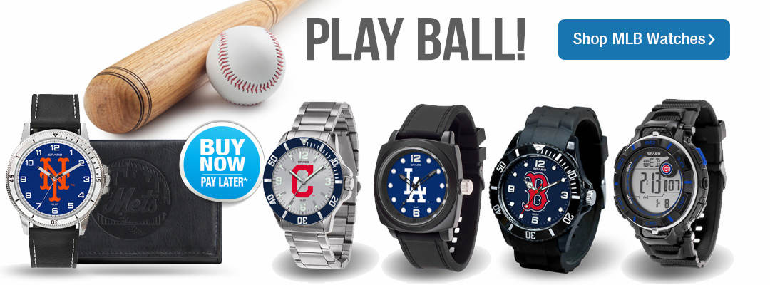 Play Ball! Show your Major League Baseball alliance by wearing your favorite team on your wrist. Shop MLB watches now.