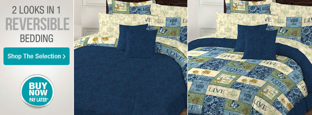 Two looks in one with reversible bedding. Shop the selection.