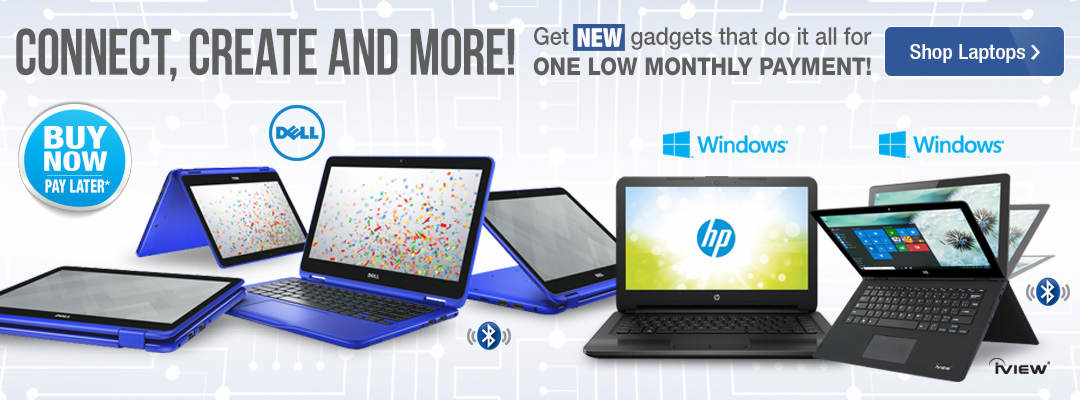 Connect, create and more with NEW gadgets that do it all for one low monthly payment. Shop Laptops now.