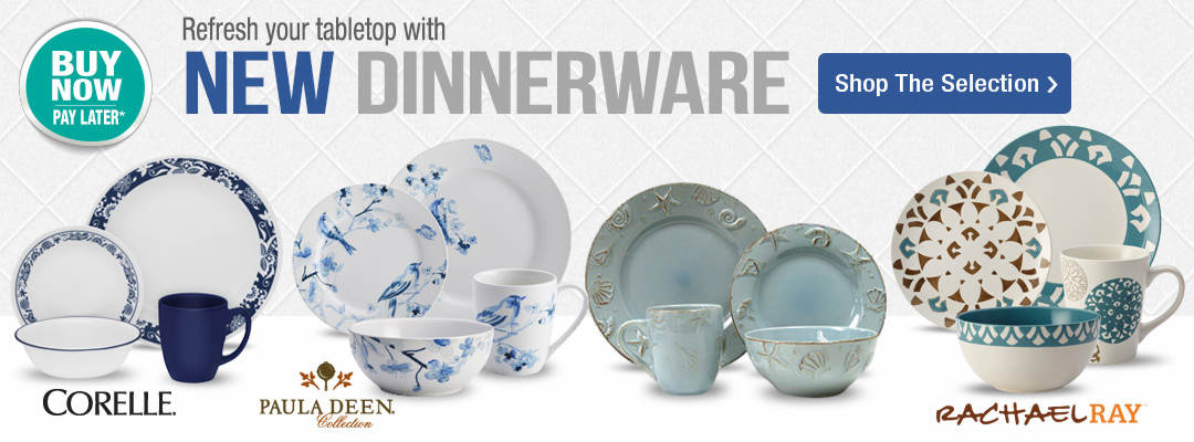 Refresh your tabletop with new dinnerware. Shop now.