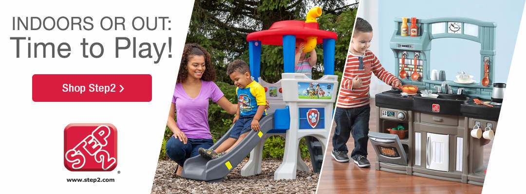 Indoors or out, it's time to play with Step2 toys and activity centers. Shop Now.