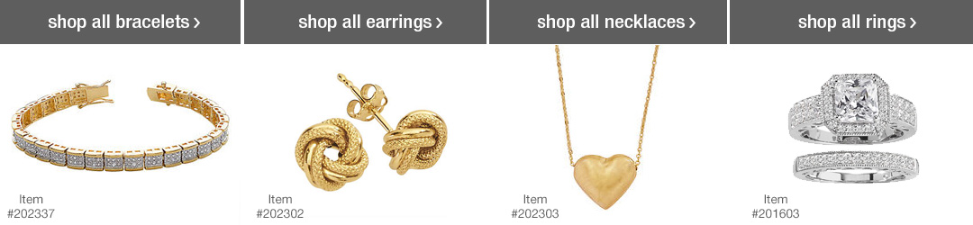 Shop Top Jewelry Categories - Bracelets, Earrings, Necklaces and Rings!