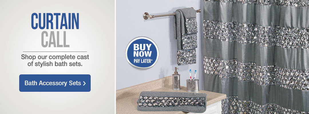 Update your bathroom with a new look. Shop Bath Accessory Sets now.