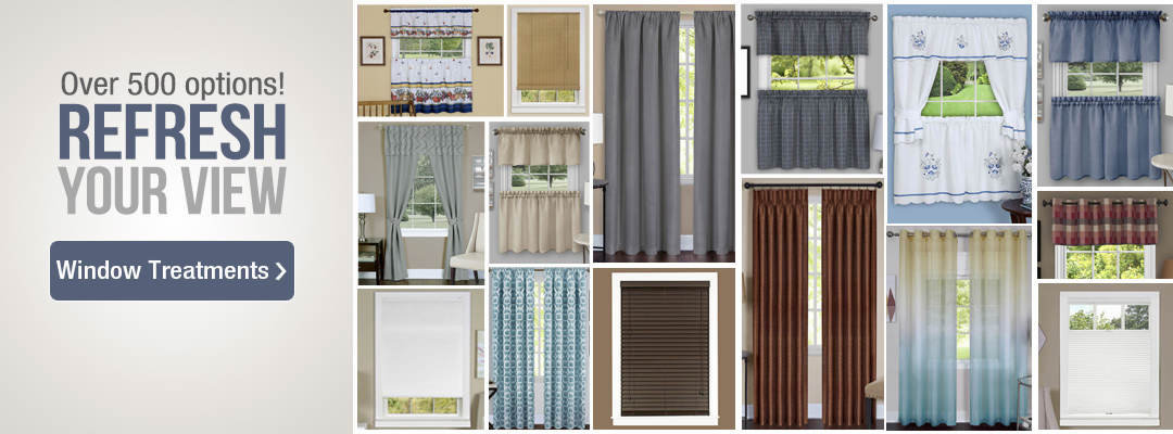 Refresh your view with over 500 options of window treatments. Shop now.