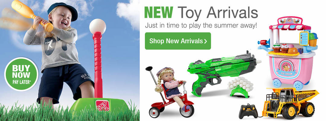 New Toy Arrivals - just in time to play the summer away! Shop Now.