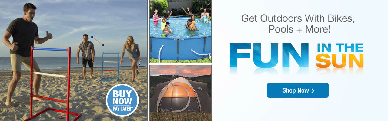 Get outdoors with bikes, pools, camping gear and more. Shop now.
