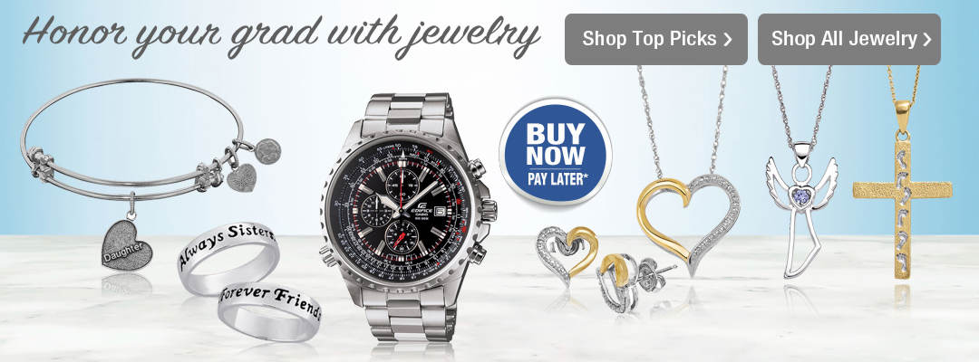Honor your graduate with jewelry from Stoneberry Credit. Shop now.