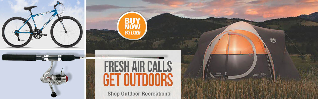 Fresh air is calling! Shop outdoor recreation now.