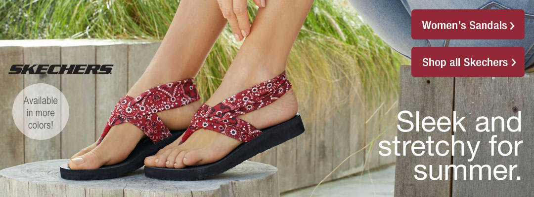 Sleek and stretchy sandals for summer from Stoneberry.