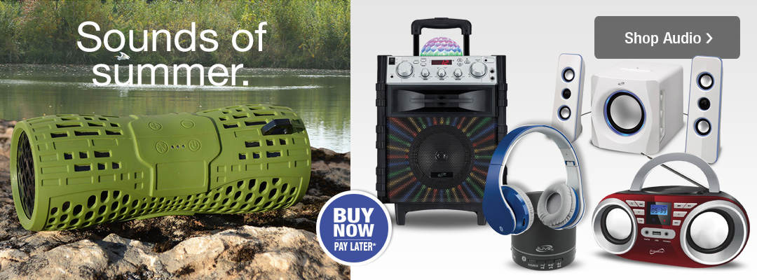 Listen to the sounds of summer with portable audio items from Stoneberry.