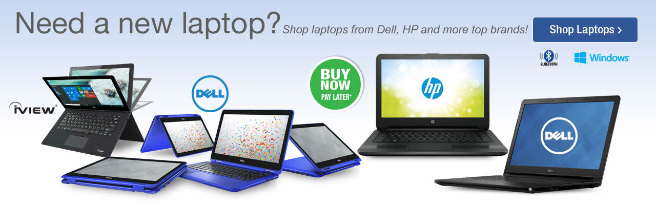 Need a new laptop? Shop laptops from Dell, HP and more top brands now.