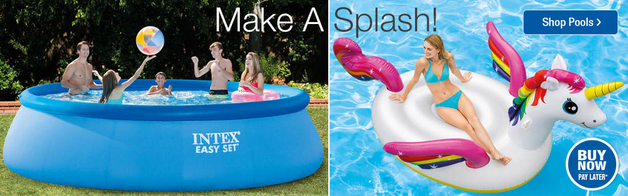 Make a splash with pools and inflatables. Shop now.