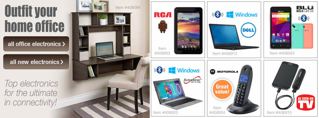 Outfit your home office with top electronics for the ultimate in connectivity!