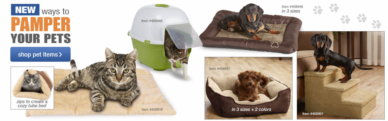 Shop new ways to pamper your pets!