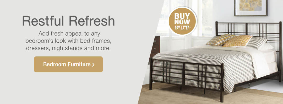 Add fresh appeal to any bedroom's look with bed frames, dressers, nightstands and more. Shop Bedroom Furniture now.