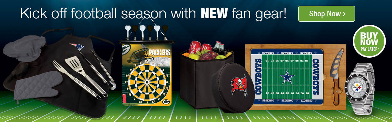 Kick off football season with new fan gear. Buy now, pay later. Shop now.