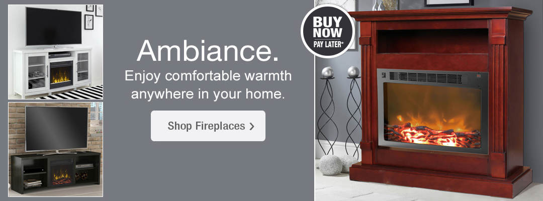 Enjoy comfortable warmth and ambiance anywhere in your home. Shop fireplaces now.