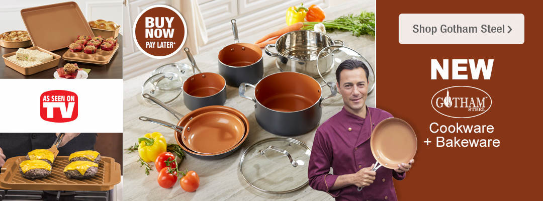 New cookware and bakeware from Gotham Steel. As Seen on TV!