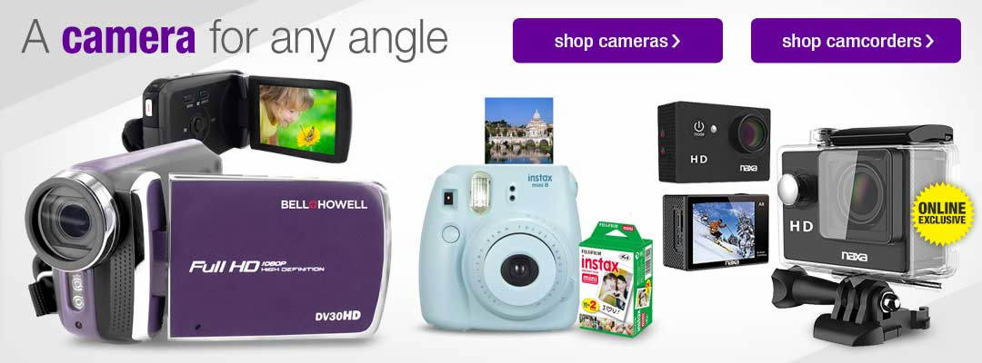 Find a camera or camcorder for any angle