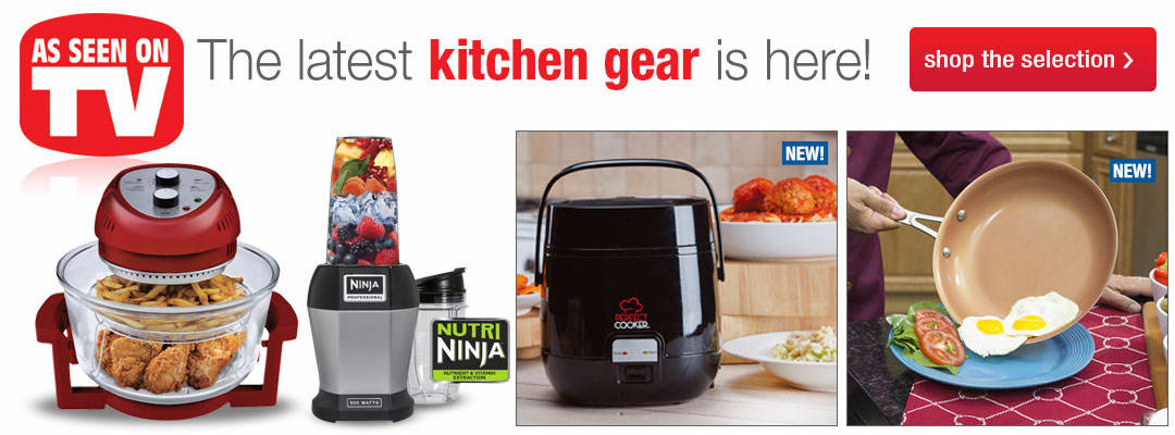 Shop our selection of As Seen On TV gear for the kitchen.