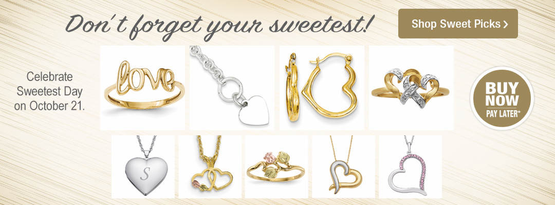 Celebrate your sweetest with these sweet picks in jewelry. Sweetest Day is October 21.