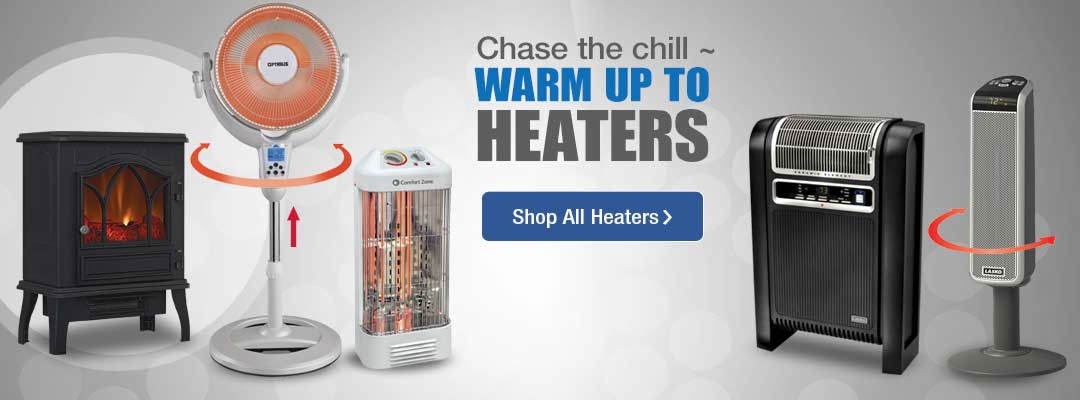 Chase the chill with heaters. Shop now.