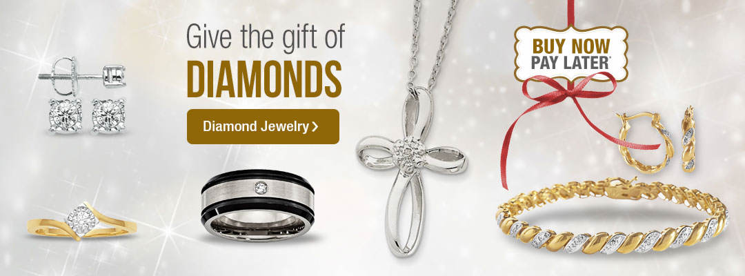 Give the gift of diamonds. Shop diamond jewelry now.