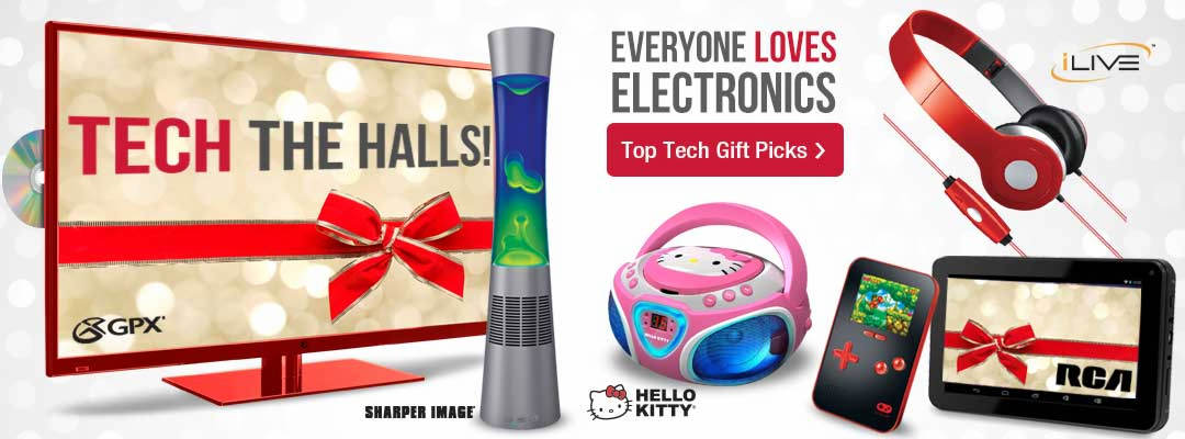Tech the halls with electronics for everyone on your holiday shopping list.