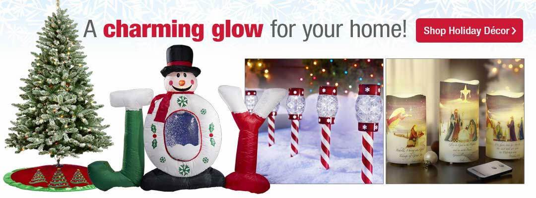 A charming glow for your home is available by shopping holiday decor now at Stoneberry.com.