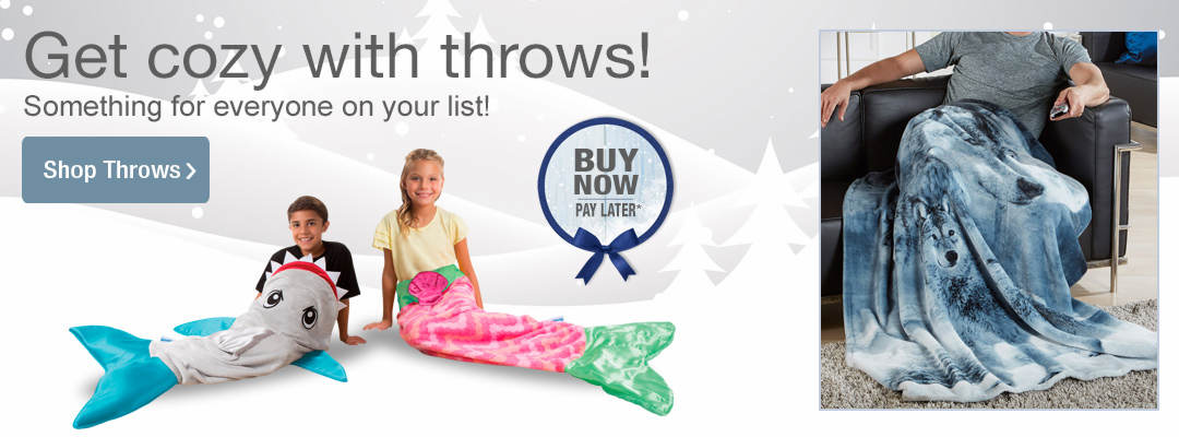 Get cozy with throws. A style for everyone on your list. Shop now.