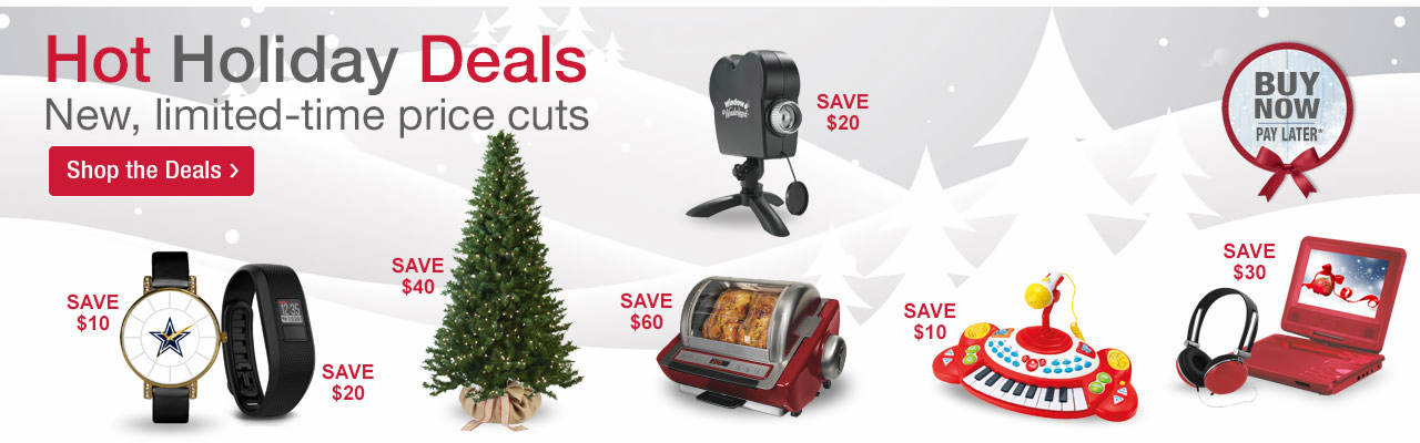 Hot holiday deals are here! New, limited-time price cuts on great gifts for the season. Shop now, pay later.