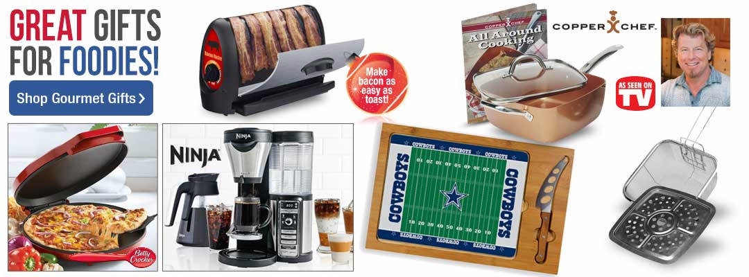 Shop great gifts for the foodies on you list.