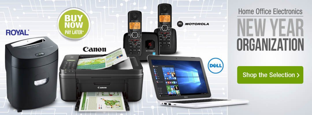 Get organized in the new year with home office electronics