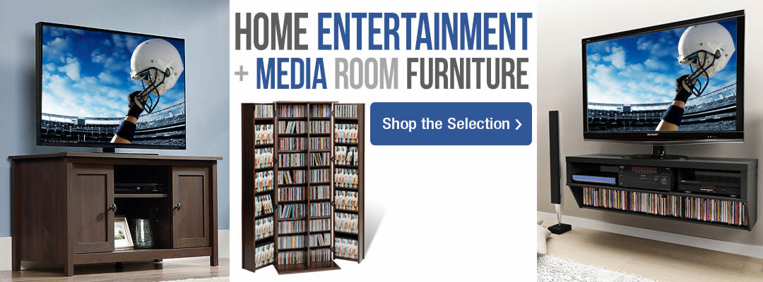 Get set for the big game with home entertainment and media room furniture