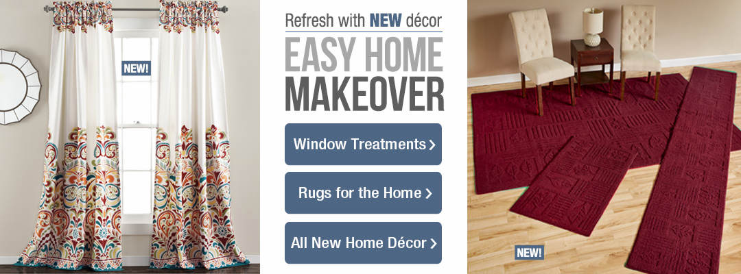 Create an easy home makeover with new decor for the home