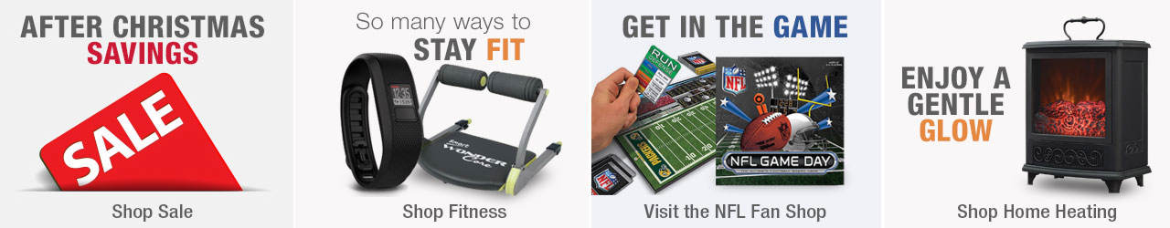 Save at the big After Christmas sale. Find many ways to stay fit by shopping our fitness selection. Get in the game with NFL gear from the fan shop and enjoy a gentle glow when you shop home heating